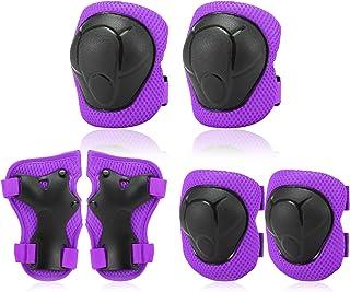 Conjunto de joelheiras infantis 6 em 1 kit de proteção para cotovelo joelheiras com protetores de pulso Almofa de proteção...