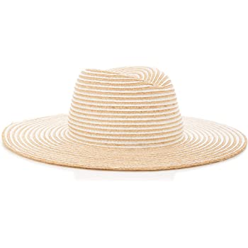 GIGI BURRIS Millinery Jeanne Straw Striped Hat | Natural and Creme