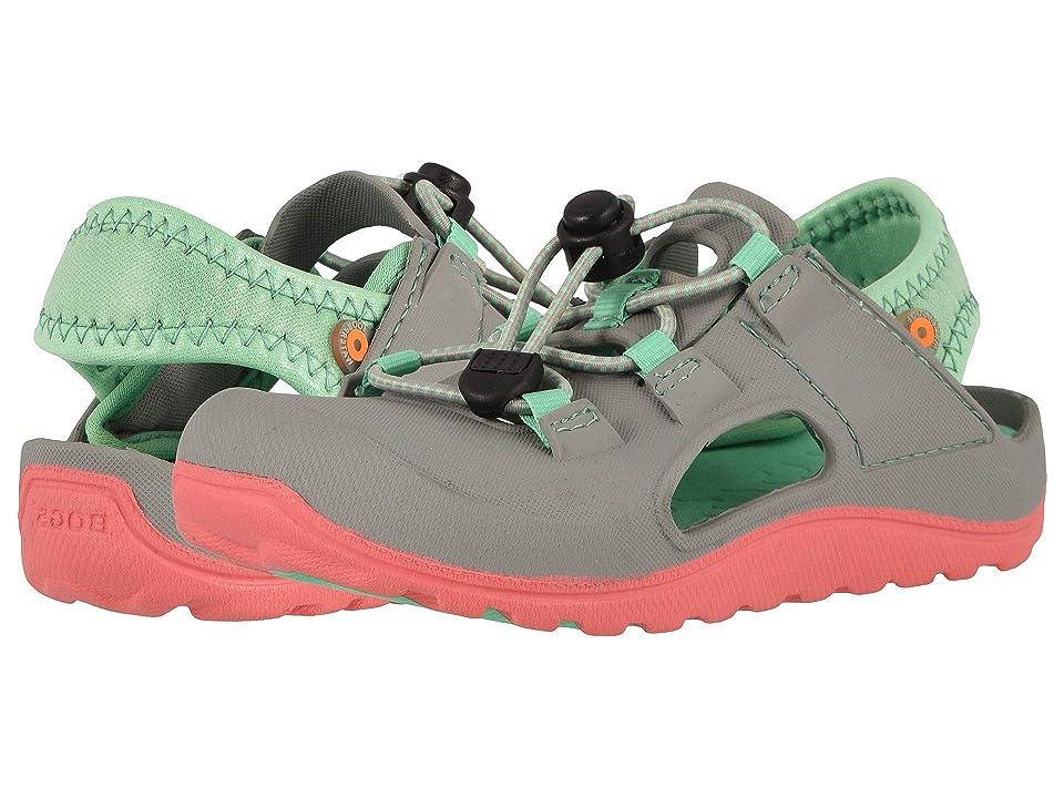 Bogs Kids Flo Sandal (Toddler/Little Kid) (Dark Gray/Chartreuse) Girls Shoes