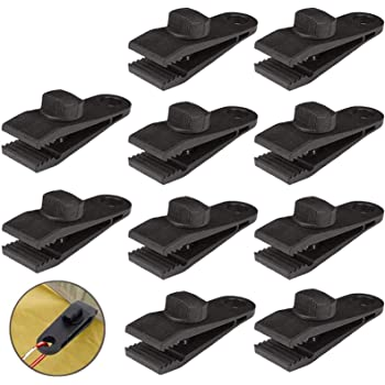 10Pcs Set Tent Tarp Tarpaulin Fasteners Clips Holder Buckle with Bungee Cord UK