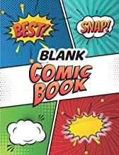 Blank Comic Book: Draw Your Own Comics 100 pages of fun and unique comic book template and Sketchbooks for Kids