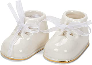 Midwest-CBK Baby Booties Ornament, Porcelain, White