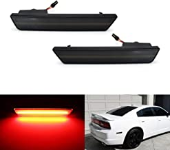 iJDMTOY Smoked Lens Red Full LED Rear Side Marker Light Kit For 2008-14 Dodge Challenger, 2011-14 Charger, Powered by 36-SMD LED, Replace OEM Back Sidemarker Lamps
