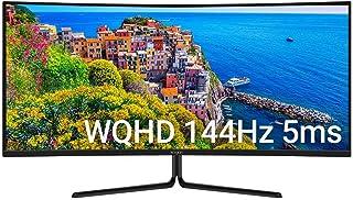 "Kogan 34"" WQHD Curved 21:9 Ultrawide 144Hz Freesync HDR Gaming Monitor (3440 x"