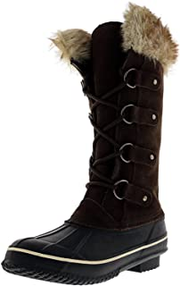 Faux Fur Women's Tall Arctic Winter Boots, Cruelty Free,...