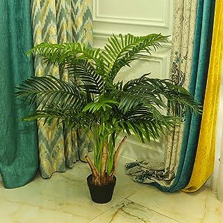 YATAI تقريبا شجرة النخيل الاصطناعية الطبيعية 1 متر النباتات الاصطناعية عالية للديكور المنزل في الهواء الطلق حديقة الديكور ...