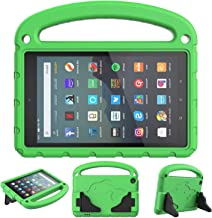 SUPWANT Kids Case for All-New Fire 7 2019 - Kid-Proof Light Weight Protective Case with Handle Convertible Stand for Amazon Fire 7 Tablet (9th Generation - 2019 Release), Green