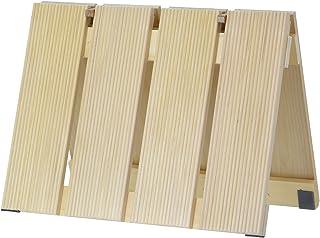 ウメザワ 木製 バスマット すのこ 青森ひば 折り畳み式 小 57×37×2cm 日本製 547149