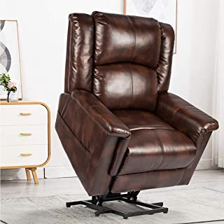 YODOLLA Power Lift Chair Heat and Massage Recliner with PU Leather for Elder People Remote Control…