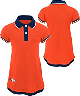 Outerstuff Denver Broncos NFL Lil Cheer Coach Toddler Girls Faux Layer Polo Dress