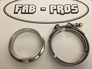 Downpipe V-band Flange and Clamp for Borg Warner Turbo EFR Turbo Discharge 304SS Vband