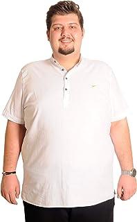 Mode XlBuyuk Beden Erkek m Yaka Keten Likra Gömlek 1