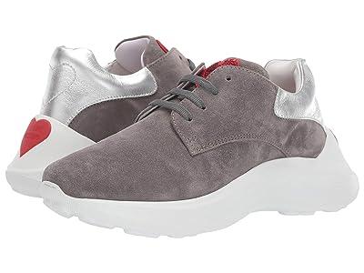 LOVE Moschino Chucky Dad Sneaker (Grey Suede) Women