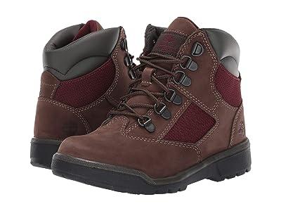 Timberland Kids 6 Field Boot (Little Kid) (Dark Brown Nubuck) Kids Shoes