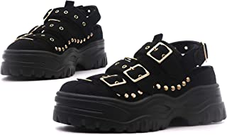 Cardi Strappy Platform Sneaker Sandals Shoes for Women with Chunky Block Heel
