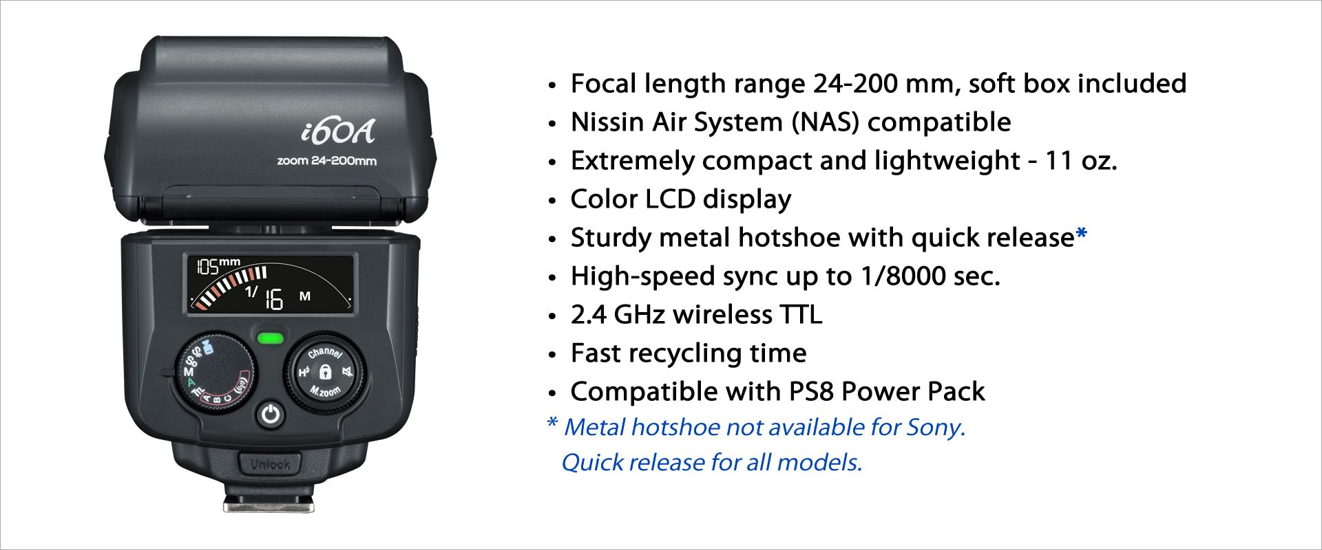 Nissin i60 a Flash para cámaras Sony: NISSIN: Amazon.es: Electrónica