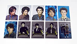 2009 Topps Jonas Brothers Foil Puzzle Sticker Set (10) Nm/Mt