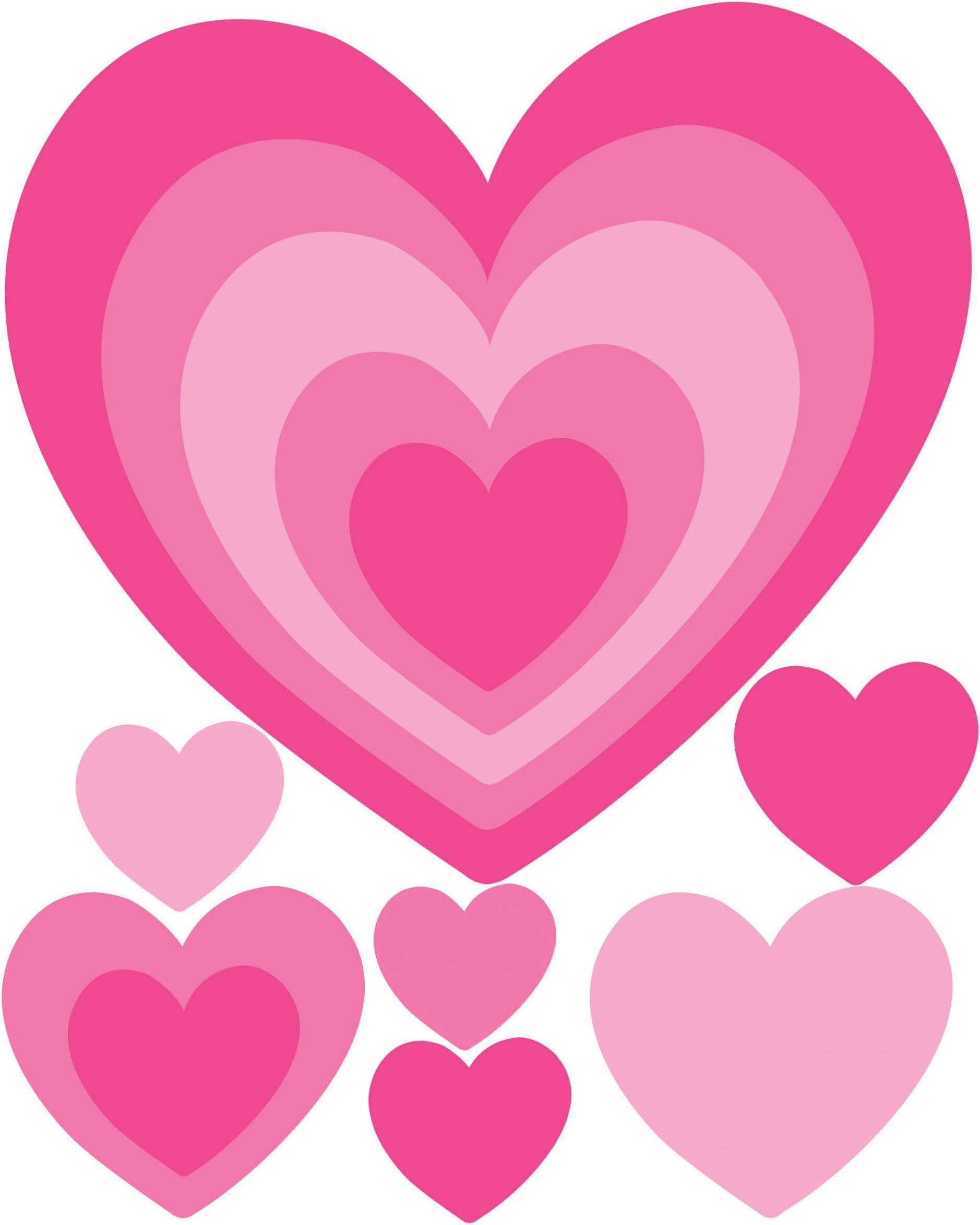 Wall Sticker Vinyl Heart Stickers Peel And Stick Hearts Vinyl Decal 96 Two colors Hearts Wall Decal Hearts Decal Nursery Heart Decal
