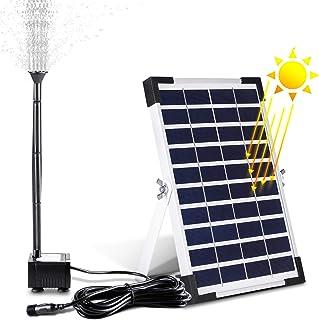 MVPower Solarpumpe Springbrunnen Solar Teichpumpe Gartenpumpe Solarteichpumpe 380L/H, 5W