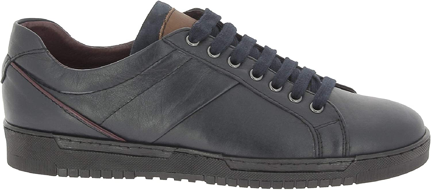 Nicholas Men's 3000AMNAE bluee Leather Sneakers
