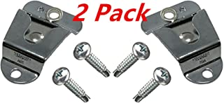 2 X FANVERIM Pack Quality Microphone Hang Up Clip,Mic Microphone Holder Clip, Screw In for Mobile Two-Way Radios (2 Packs)