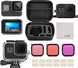 iTrunk Accessories Compatible for GoPro Hero 8 Including Travel Case + Waterproof Case + Tempered Glass Screen Protector + Silicone Cover + Diving Filters+ Anti-Fog Inserts for GoPro Hero 8