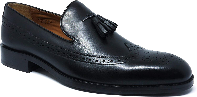 Savile Row Company herrar svart Leather Leather Leather Tasseld Loafers  det bästa nätbutikbjudandet