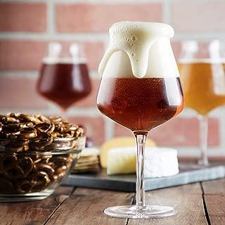 Craft Beer Glasses Set of 4 in Luxury Gift Box, Hand Blown 14.2 oz Teku Stemmed Beer Glasses for Pilsner, Stout, Lager, Ale, IPA