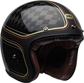 Bell Custom 500 Carbon Open-Face Motorcycle Helmet (RSD Checkmate Matte/Gloss Black/Gold, Large)