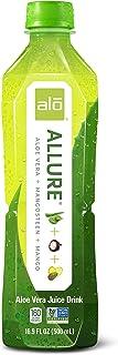 ALO Allure Aloe Vera Juice Drink, Mangosteen + Mango, 16.9 Fl Oz (Pack of 12)