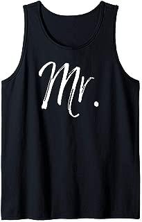 Engagement Gift for Men Groom's Matching Wedding Gift Mr. Tank Top