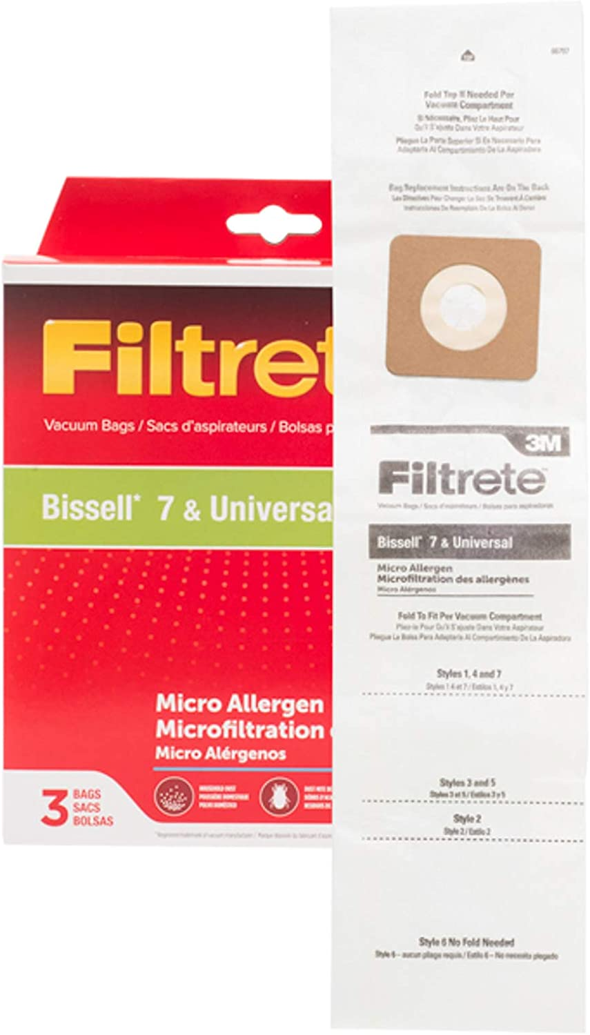 Electrolux 3M OFFicial site Bissell 7 Universal Allergen Bag Weekly update Pkg Micro