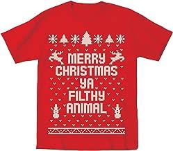 merry christmas ya filthy animal shirt toddler