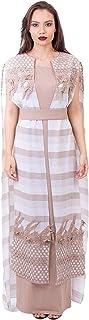 Opera Crepe Straight Dress for Women, Beige - 1712299
