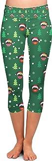 Rainbow Rules Christmas Santa Mickey & Minnie Disney Inspired Yoga Leggings - Capri 3/4 Length, Low Waist