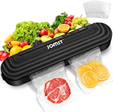 2 in 1 JOMST Vacuum Sealer Machine,Automatic Food Sealer Includes 10 Vacuum Bags for Kitchen Food Preservation with Multi-...