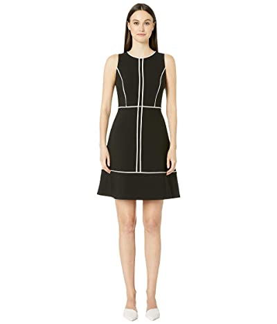 Kate Spade New York Paneled Crepe Dress (Black) Women