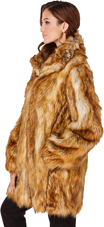 Roaman's Women's Plus Size Short Faux-Fur Coat - 2X, Fox
