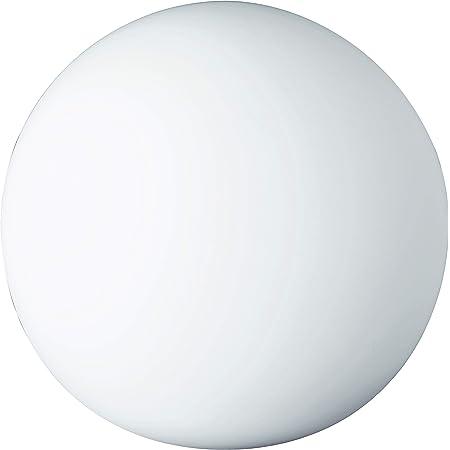 Reality, Lampe de table, Pingpong 1xE27, max.25,0 W Verre, Blanc, Corps: Verre, Blanc Ø:20,0cm, H:18,5cm IP20,Interrupteur de cordon