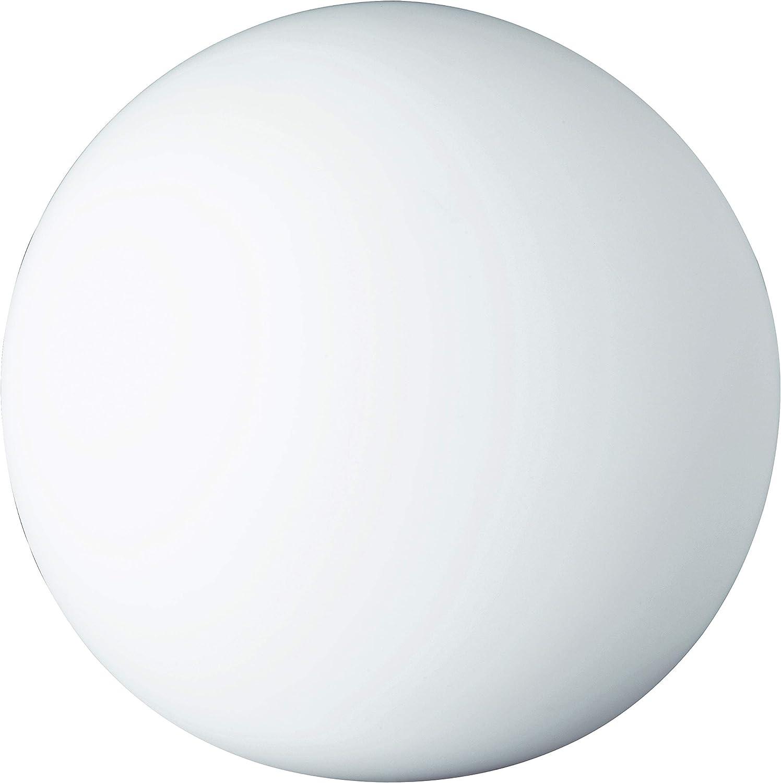 Reality Leuchten Tischleuchte Kugel, ohne Leuchtmittel, Durchmesser 20 cm, mit Schnurschalter, 1 x E27 maximum 25 W, Glas opal wei R5220-07