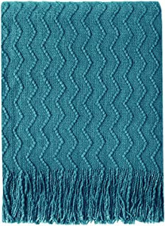 teal couch throw