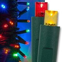 Kringle Traditions Multicolor Christmas Mini String Light Set, 50 LED Lights, 25 ft Multi Colored Christmas Lights Multicolor Indoor/Outdoor Christmas Tree Lights Multicolor Party Home LED Christmas