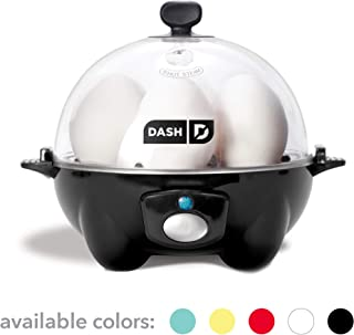 Dash DEC005BK black Rapid 6 Capacity Electric Cooker for Hard Boiled, Poached, Scrambled..