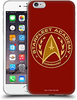 Official Star Trek Command Starfleet Academy Logos Soft Gel Case Compatible for iPhone 6 Plus/iPhone 6s Plus