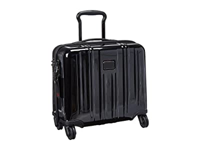 Tumi V3 Compact Carry-On 4 Wheel Briefcase (Black) Briefcase Bags