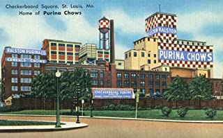 St. Louis, Missouri - Exterior View of Checkerboard Square, Ralston Purina Company 35559 (16x24 SIGNED Print Master Art Print - Wall Decor Poster)