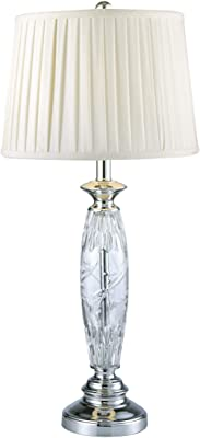 Dale Tiffany SGT16160F 24% Lead Crystal Table Lamp, Powis