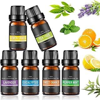 Set de aceites esenciales100% Natural Puro Aromaterapia Aceite Aromático Set de Aceites Esenciales para Humidificador y ...