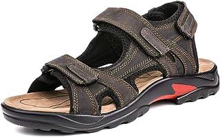 gracosy Mens Sandals Summer Shoes Open Toe Walking Flat Sandals Shoes Lightweight Non-Slip Hiking Trekking Hook Loop Strap...