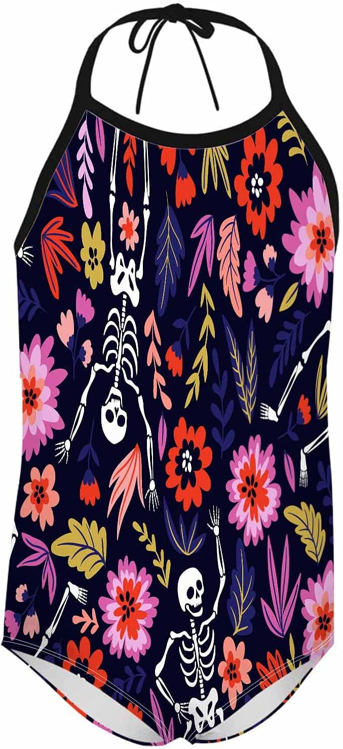 WONDERTIFY Dancing Weekly update Skeletons Girl's Swimsuit Sugar Funny F Skull Dallas Mall